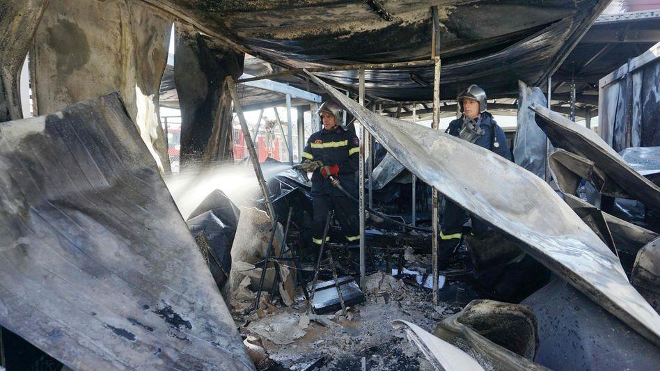 Feuerwehr auf Lesbos