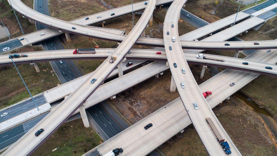 Weg aus der Krise: Altes US-Autobahnkreuz im Bundesstaat Maryland