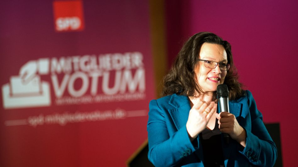 SPD-Generalsekretärin Nahles in Dresden: Zustimmung kein Selbstläufer