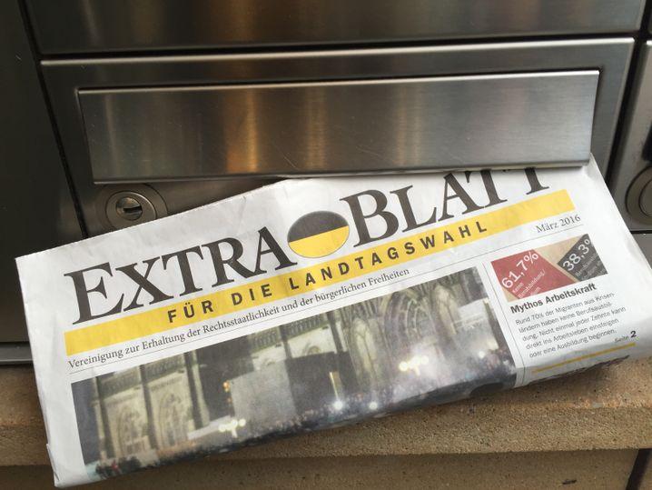 """Gratis """"Extrablatt"""" im baden-württembergischen Wahlkampf im März 2016"""