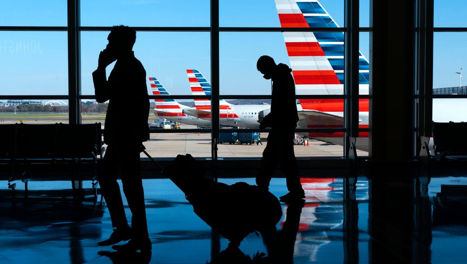 Flugreisende am Washington National Airport (am 24. November): Millionen Reisende rund um das Fest