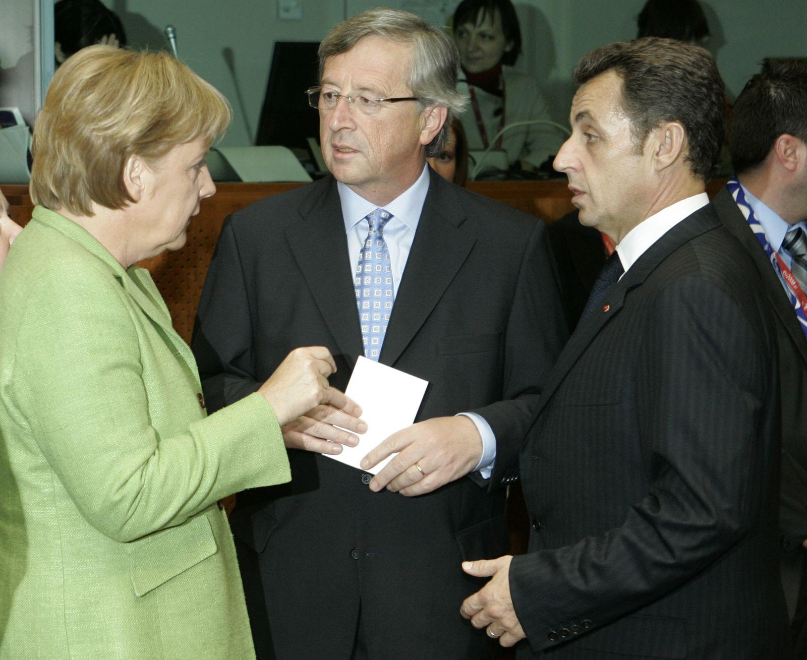 Merkel Sarkozy Juncker
