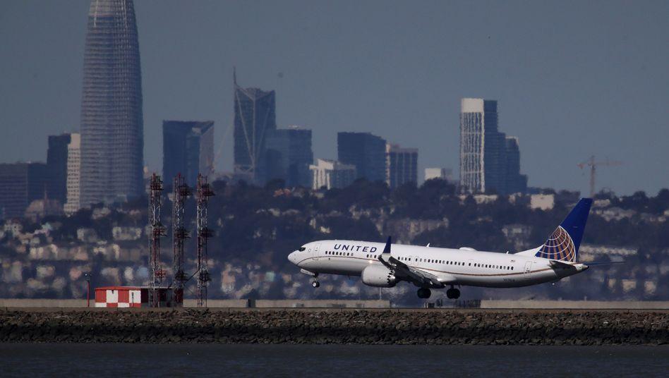 United Airlines lässt seine Boeing 737 Max länger am Boden (Archivbild)