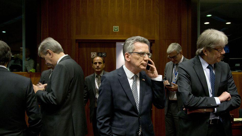 Innenminister Thomas de Maizière: Einig mit Partnern über Anti-Terror-Maßnahmen