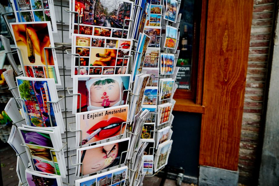 Postcards for sale in Amsterdam