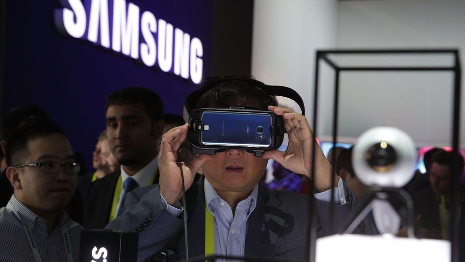 Samsung-Stand auf der CES in Las Vegas