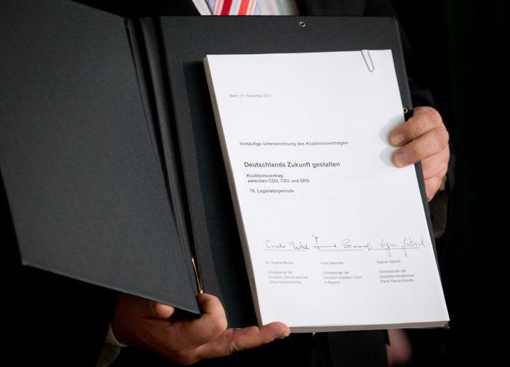 Vertrag der Großen Koalition vom Herbst 2013: Zum dritten Mal im Bund angewandt