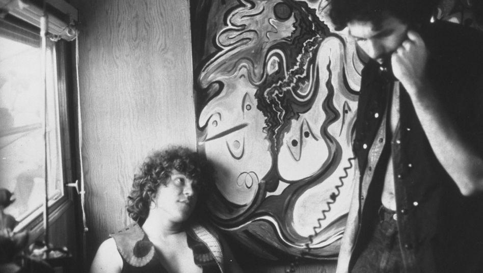 Michael Lang (l.) im Sommer 1969