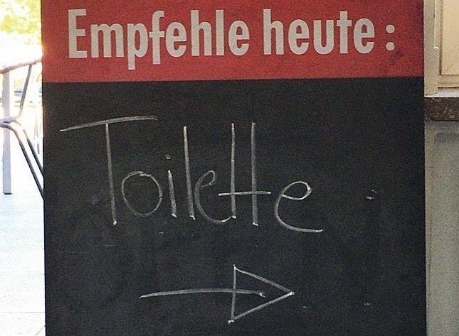 In einem Café in Aachen