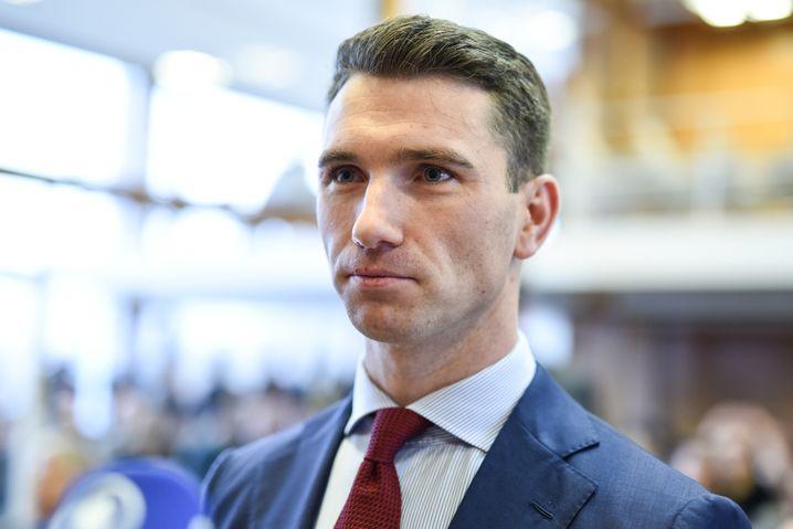 Der NPD-Parteivorsitzende Frank Franz