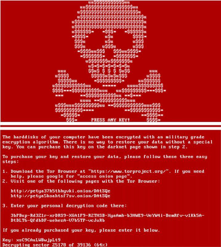 Cyberangriff mit der Ransomware Petya/Not Petya