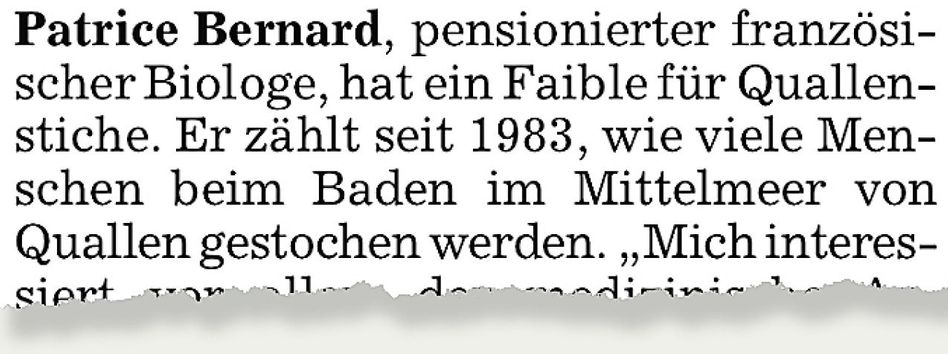 Aus der »Süddeutschen Zeitung«