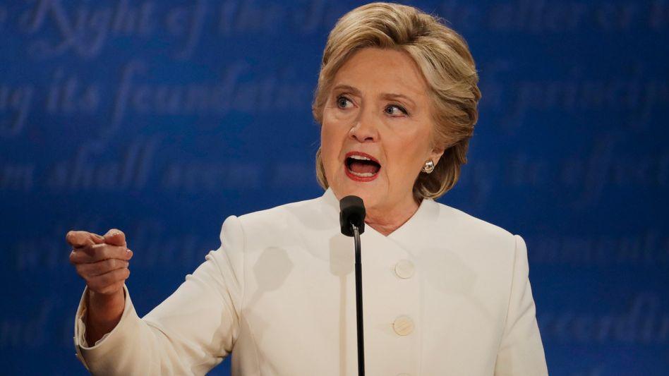 Clinton beim TV-Duell in Las Vegas