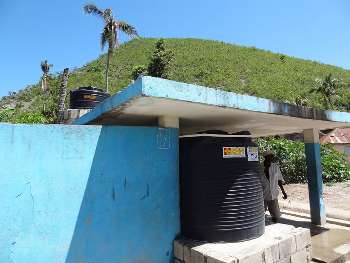 A water filtration system in Saint-Louis-du-Sud built by ASB