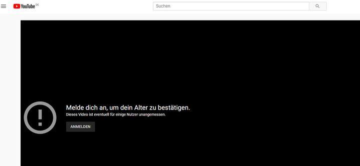 Warnhinweis auf YouTube: Deutlich präsenter als Infokästen