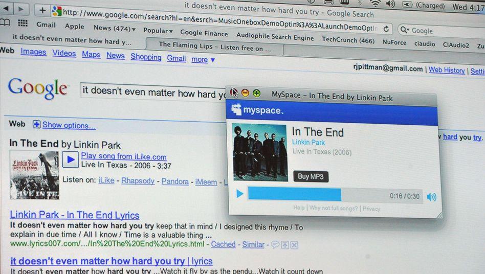 MySpace-Integration in Google-Suche: Neue Funktionen sollen Nutzer locken