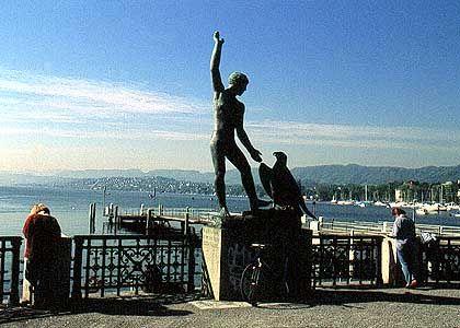 Bürkliplatz, Aussicht auf den Zürichsee