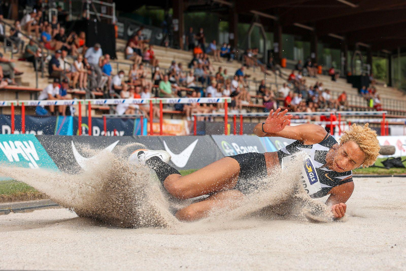 True Athletes Classics; Leverkusen, 27.06.2021 6,92m - Malaika Mihambo (LG Kurpfalz); True Athletes Classics am 27.06.2