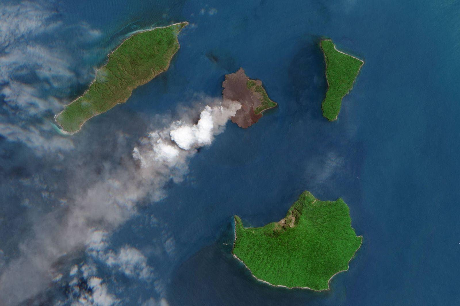 EINMALIGE VERWENDUNG Anak Krakatau
