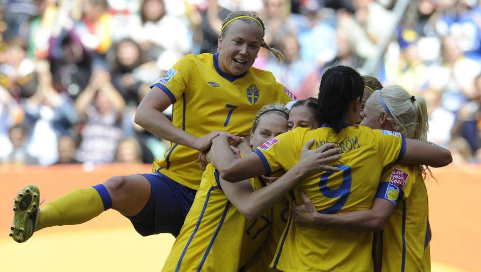 Frauenfußball-WM: Schweden bezwingt Nordkorea - DER SPIEGEL
