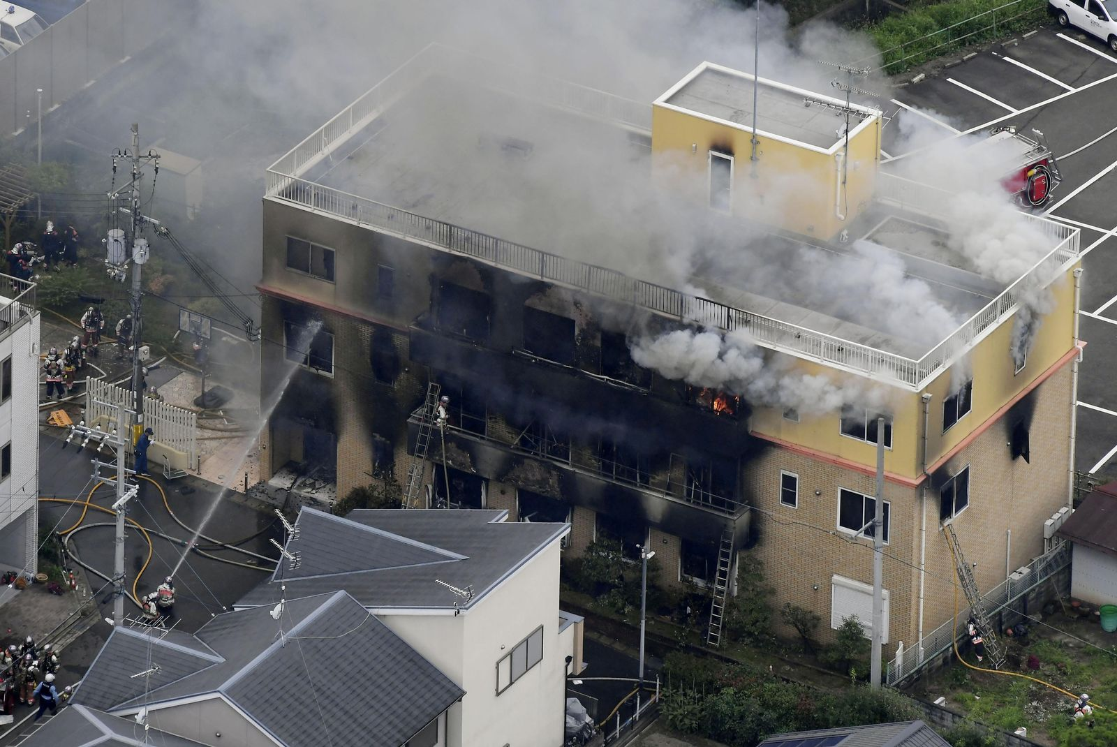 EINMALIGE VERWENDUNG Feuer/Japan/Kyoto