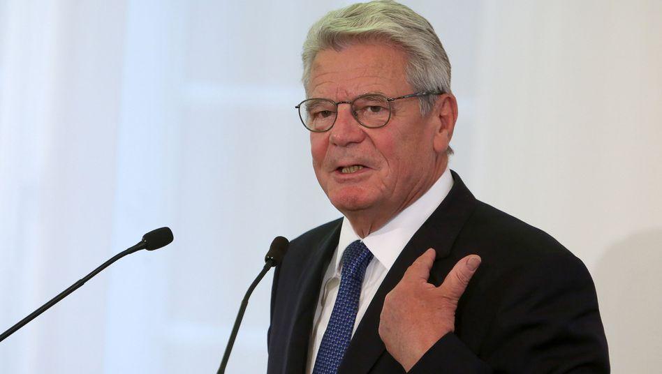 """Bundespräsident Joachim Gauck: """"Humane Aufnahmepolitik auch in der Zukunft"""""""