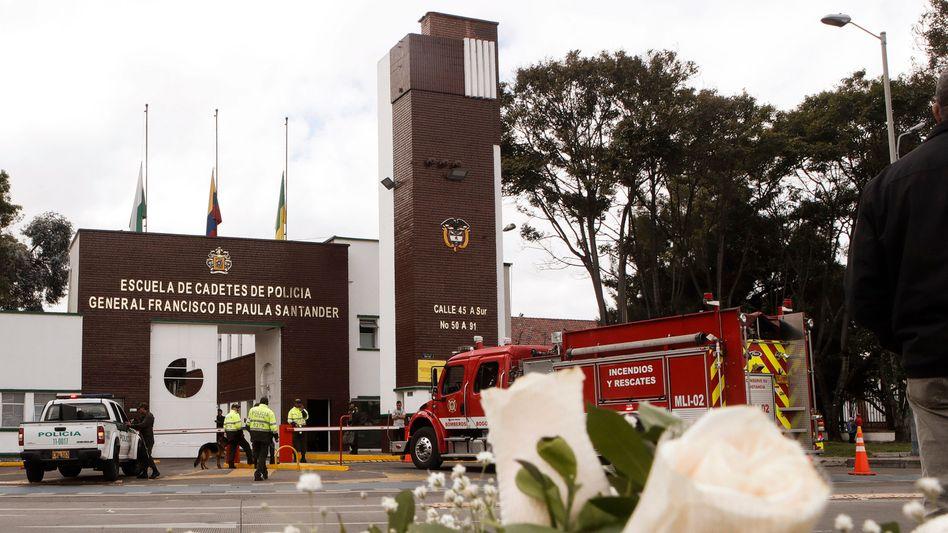Die Polizeiakademie in Bogota nach dem ELN-Anschlag