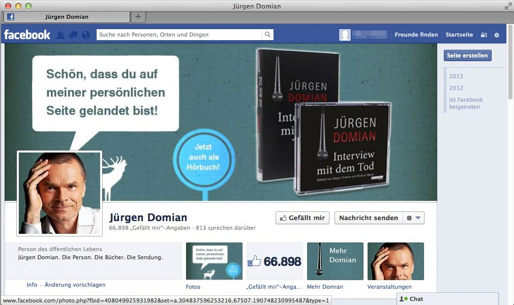NUR ALS ZITAT Screenshot Facebook Domian