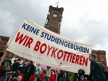 Demonstration gegen Studiengebühren in Berlin