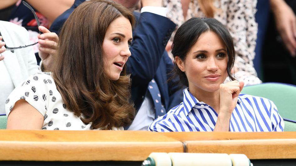 Kate und Meghan bei einem Tennismatch in Wimbledon