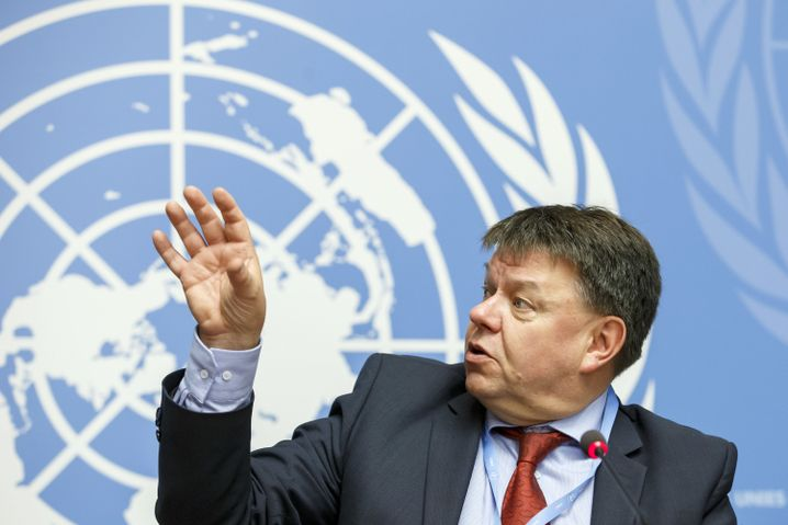 WMO-Generalsekretär Petteri Talaas präsentierte den jährlichen Bericht in Genf