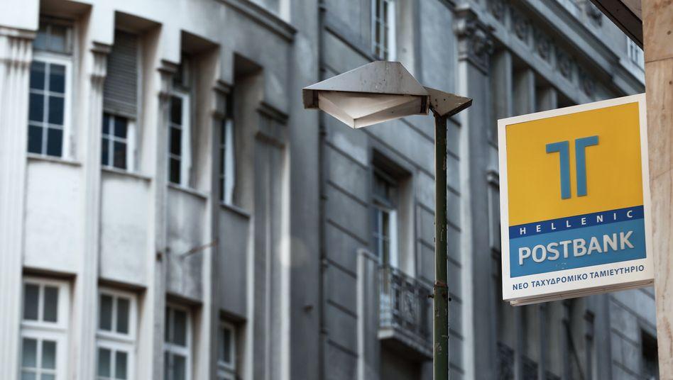 Postbank-Filiale in Athen: Schaden von 500 Millionen Euro