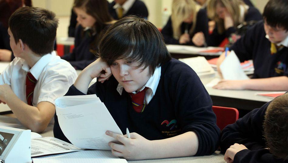 Schüler in Bristol: Mittelschicht ist vom materiellen Abstieg bedroht