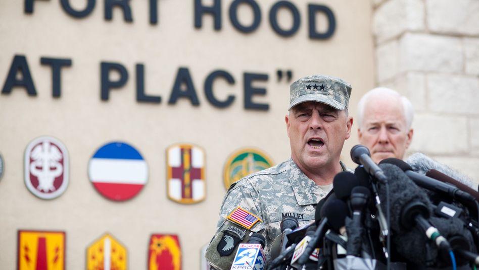 """Kommandeur Milley in Fort Hood: Hinweise auf """"verbale Auseinandersetzung"""""""