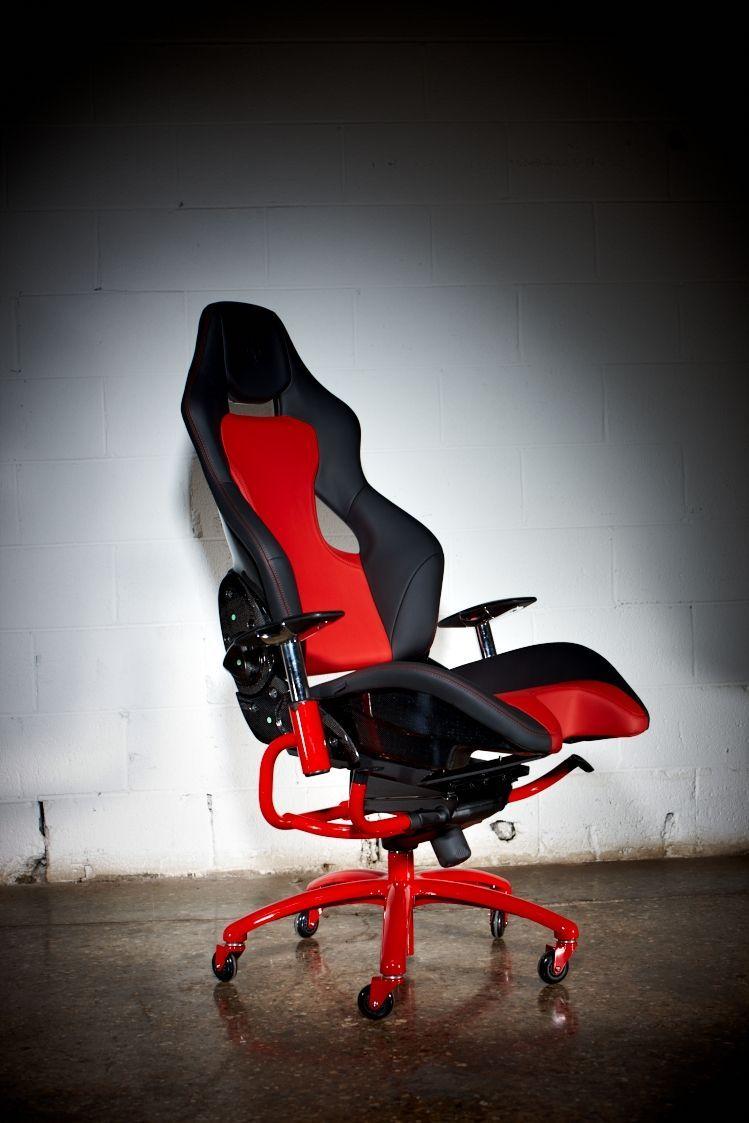 Racechairs / Modell Ferrari schwarz/rot