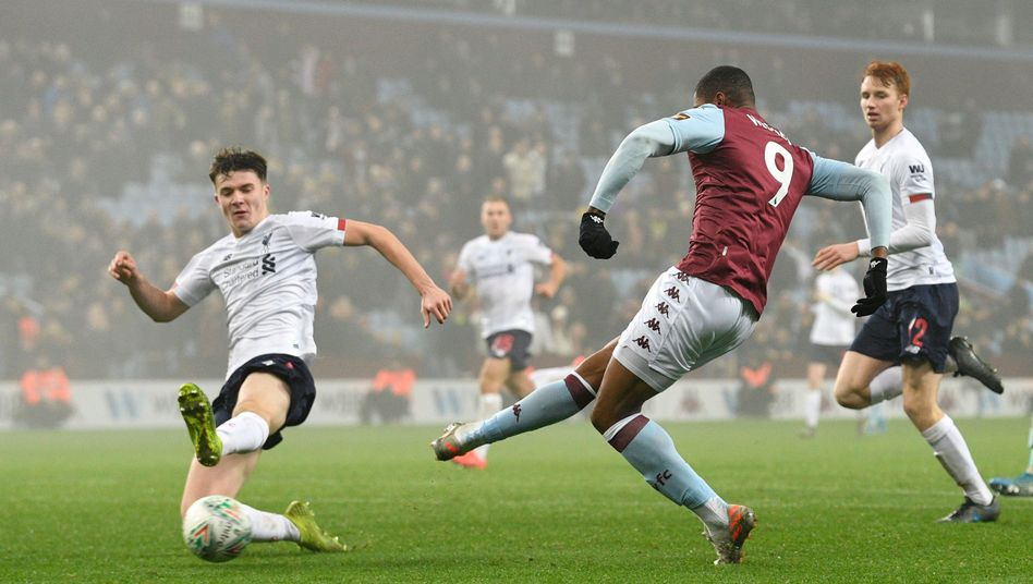 Aston Villa ließ dem Liverpooler Nachwuchs keine Chance