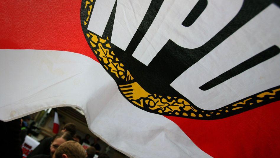 Banner der NPD: Keine andere Partei ist verabscheuungswürdiger