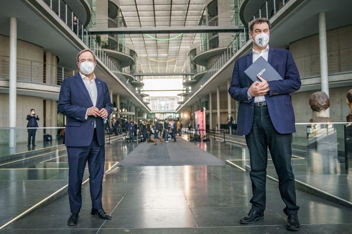 Laschet und Söder vergangene Woche in Berlin