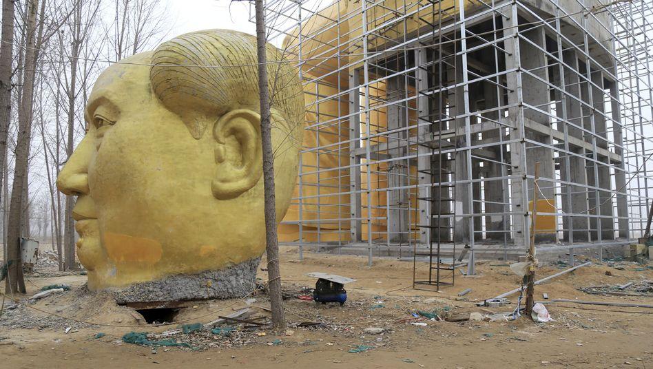 Kopf einer Mao-Statue in der Provinz Henan: Zweifel am Wunder