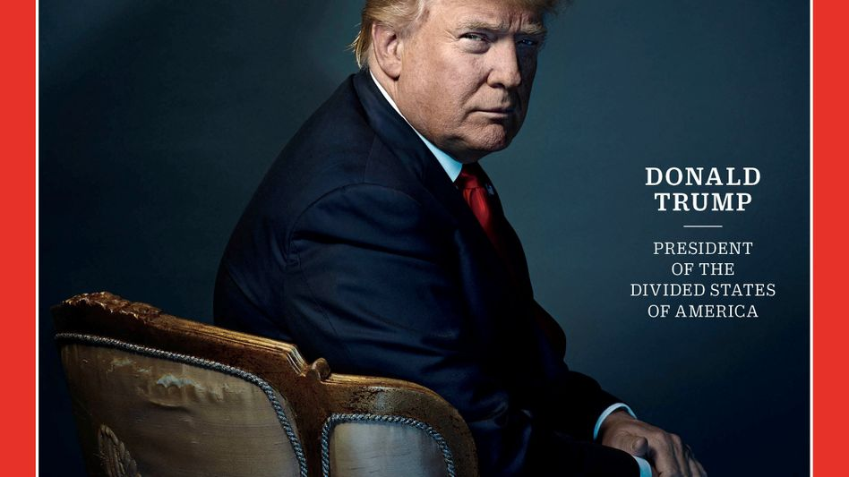 """""""Time""""-Cover mit Donald Trump"""