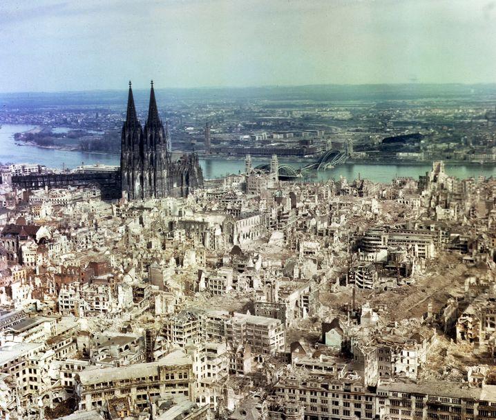 Die zerstörte Kölner Innenstadt