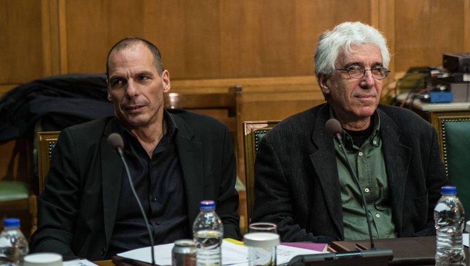 Griechenlands Finanz- und Justizminister: Varoufakis und Paraskevopoulos