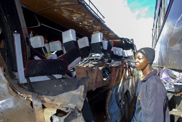 Der verunglückte Bus in Kenia