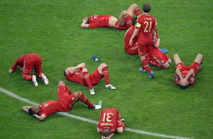 Seltenes Bild: Spieler des FC Bayern nach dem verlorenen Champions-League-Finale 2012