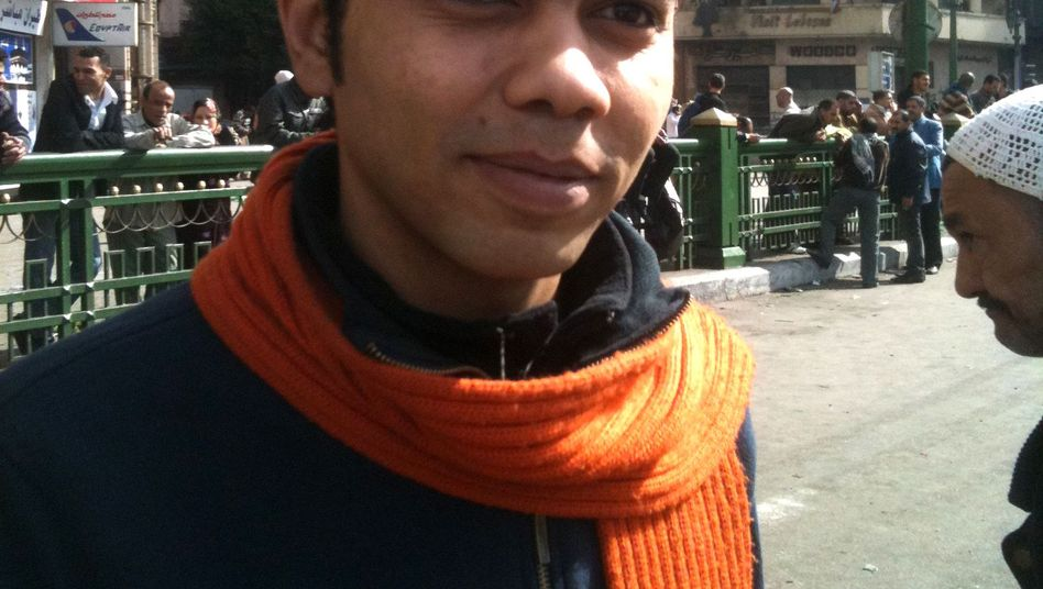 Egyptian activist Bilal has been demonstrating on the streets of Cairo for six days.