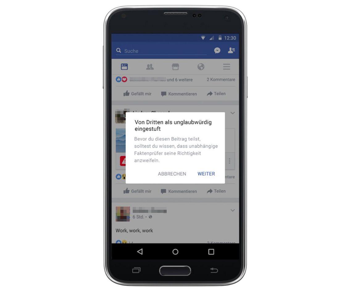 EINMALIGE VERWENDUNG Sperrfrist 15.01.17, 12.00 Uhr / Facebook / Fake News/ Fabian