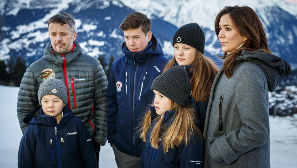 Auslandserfahrung für den Nachwuchs: Das dänische Kronprinzenpaar und ihre Kinder in Verbier