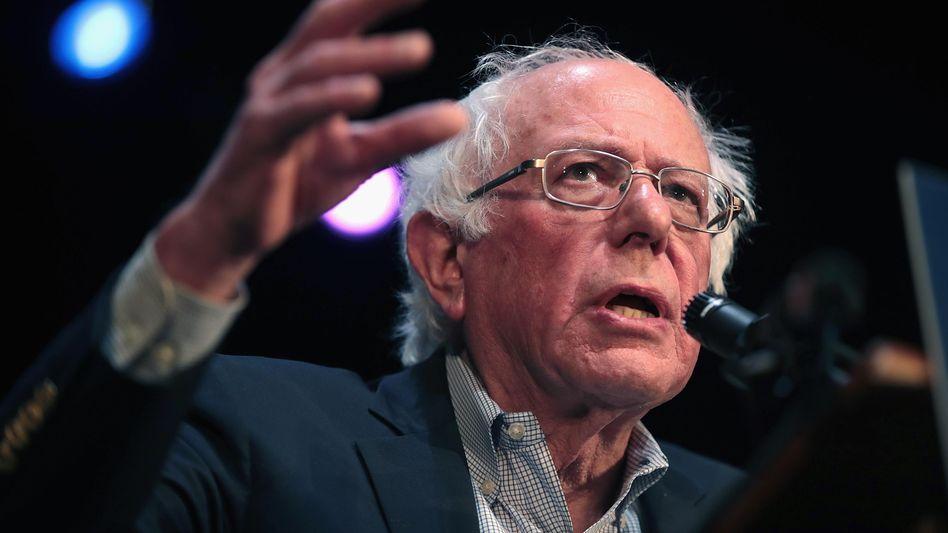 Bernie Sanders beim Wahlkampf in Iowa