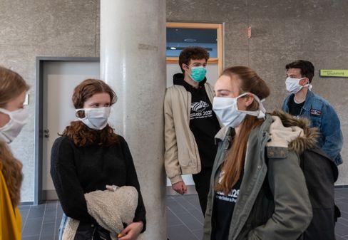 Schüler mit Schutzmaske (Symbolbild)