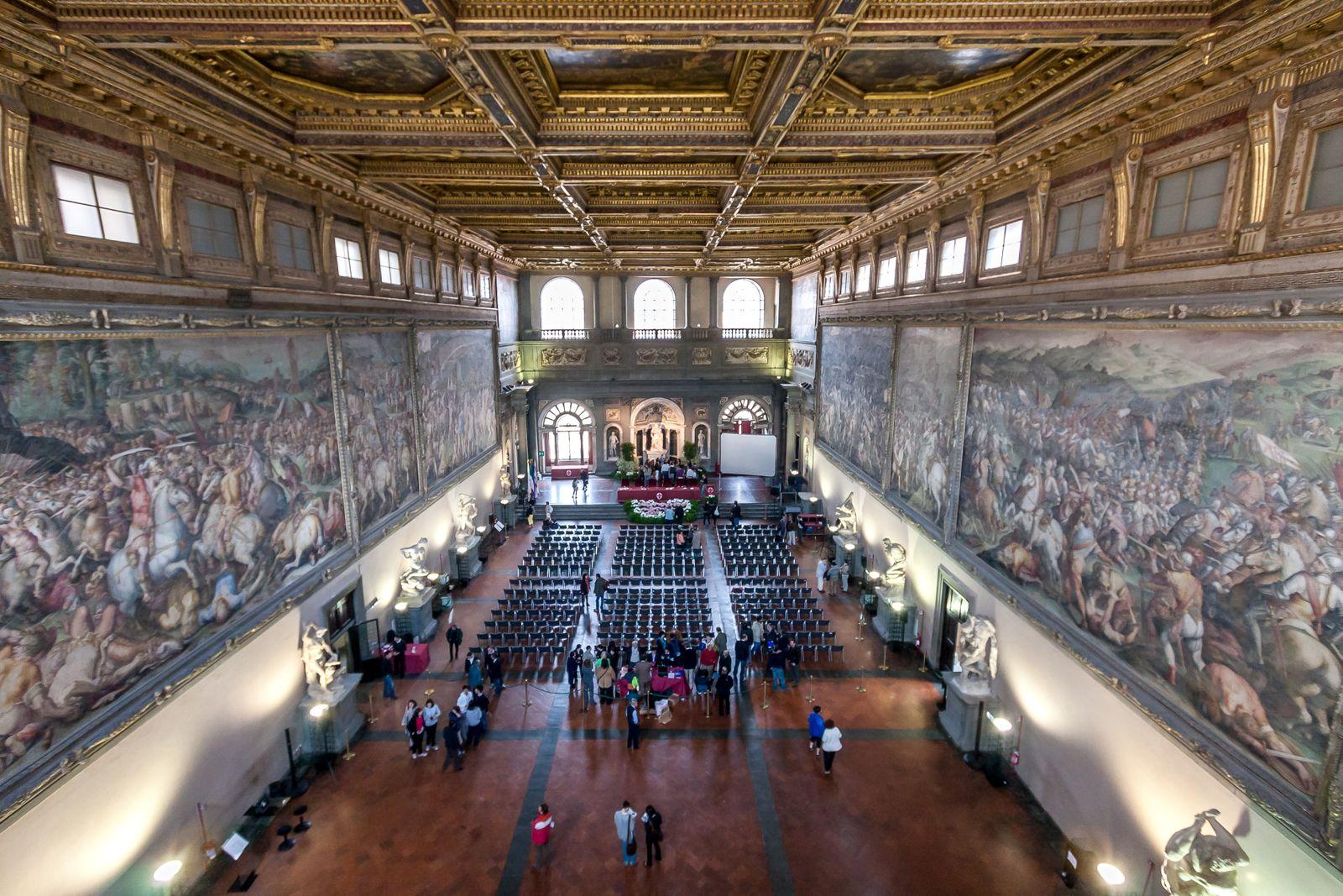 Ceiling of the Hall of the Five Hundred (Salone dei Cinquecento) in Palazzo Vecchio